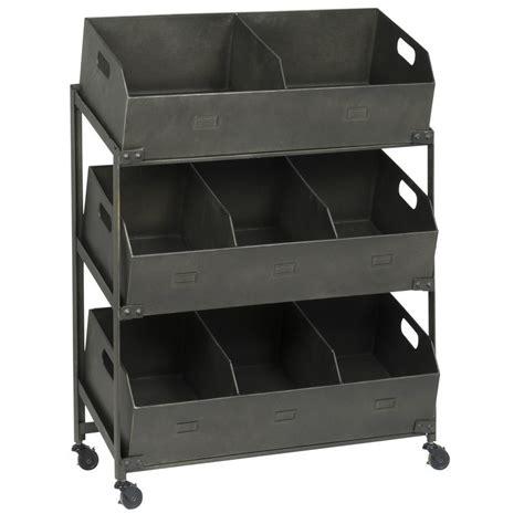 etagere ib laursen etagere sur roulettes 8 casiers industriel vintage metal