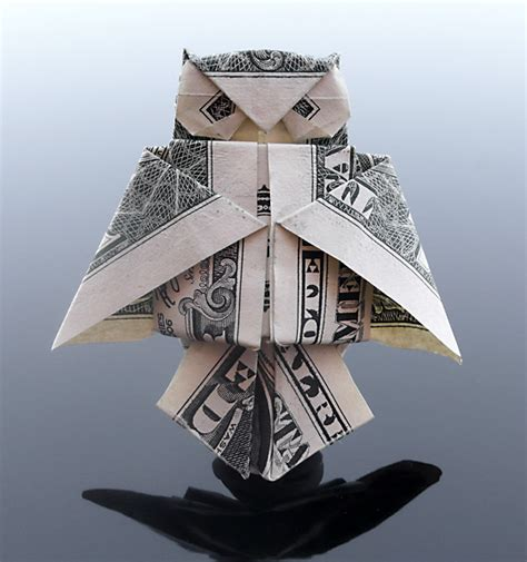 Easy Money Origami - dollar bill oragami owl illustration and design