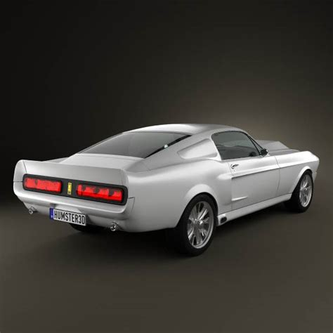 ford mustang shelby gt500 eleanor 1967 3d model humster3d