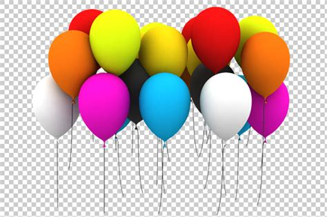 balloons 3d render png graphics on creative market