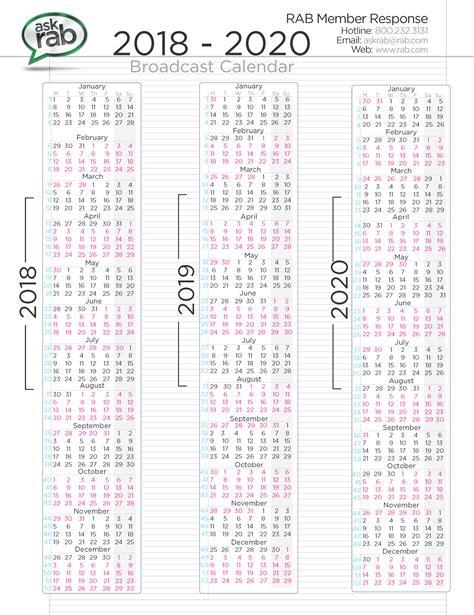 Calendar Tv Broadcast Calendars Rab
