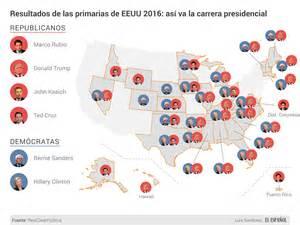 mapaor de elecciones usa 2016 elecciones de eeuu mapa de los resultados de la carrera