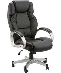green office chair argos buy hudson gas lift leather faced office chair black at