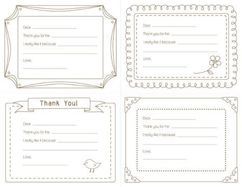 printable thank you notes uk amy j delightful blog kid s printable thank you notes