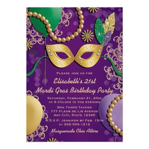 Mardi Gras Card Template by Mardi Gras Mask Birthday Card Zazzle