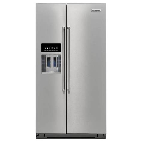 Kitchenaid Fridge Not Cold Kitchenaid 36 In W 24 8 Cu Ft Side By Side Refrigerator
