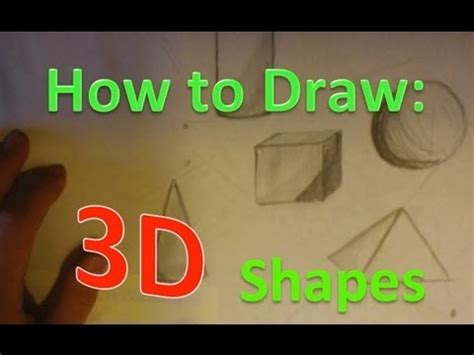 how to make easy doodle how to draw 3d shapes