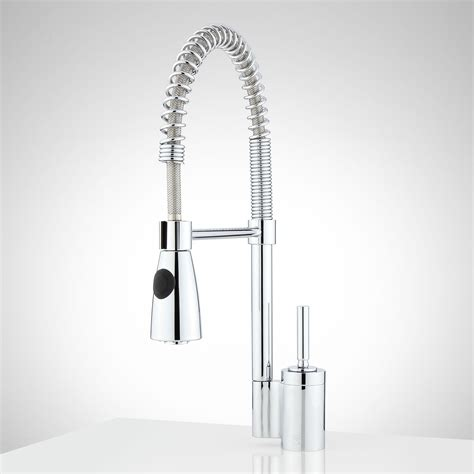 caulfield single hole pull down kitchen faucet kitchen osorio single hole kitchen faucet with pull down spring