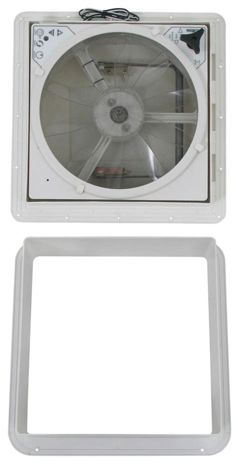 maxx air fan parts maxxair maxxfan trailer roof vent w 12v fan manual lift