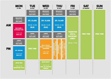 timetable plymouth 2015 timetable plymouth summer school