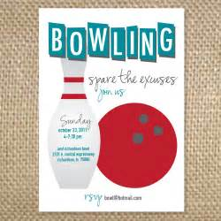 retro bowling invitation by uluckygirl on etsy