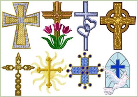 embroidery design religion crosses