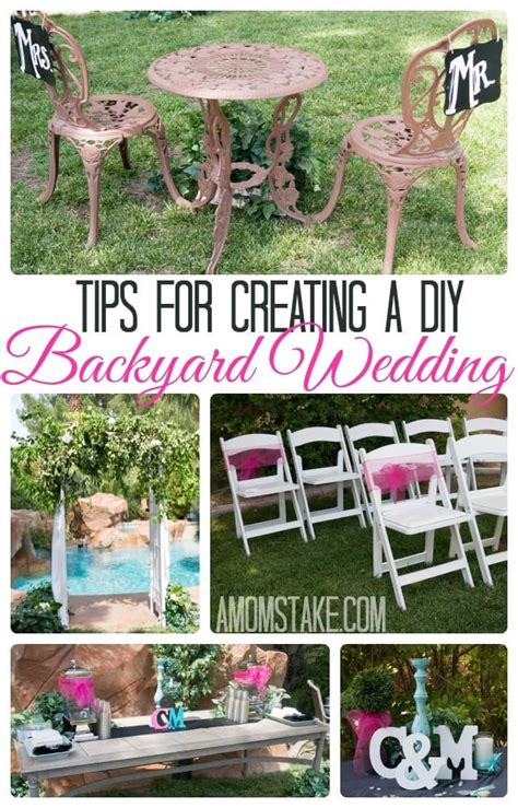 Planning A Backyard Wedding On A Budget by Tips For A Diy Backyard Wedding A S Take