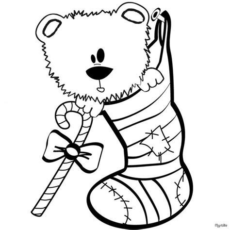 dibujos de navidad para colorear facil dibujos para colorear oso de navidad es hellokids com