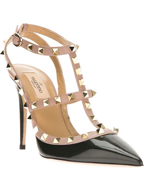 Valentino Studed valentino studded sandal in green lyst