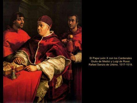 rafael retrato del papa le 243 n x con los cardenales giulio 2 galer 237 a de los uffizi 2