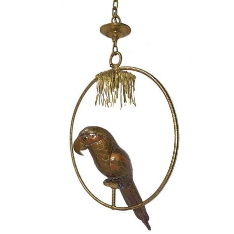 Bird Chandelier Lighting Metal Brass Copper Bird Chandelier For Sale At 1stdibs