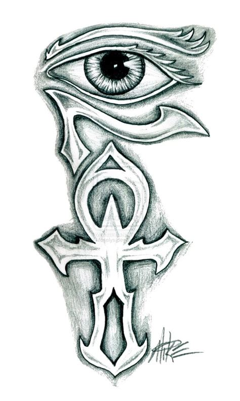 tribal ankh tattoo horus eye images designs
