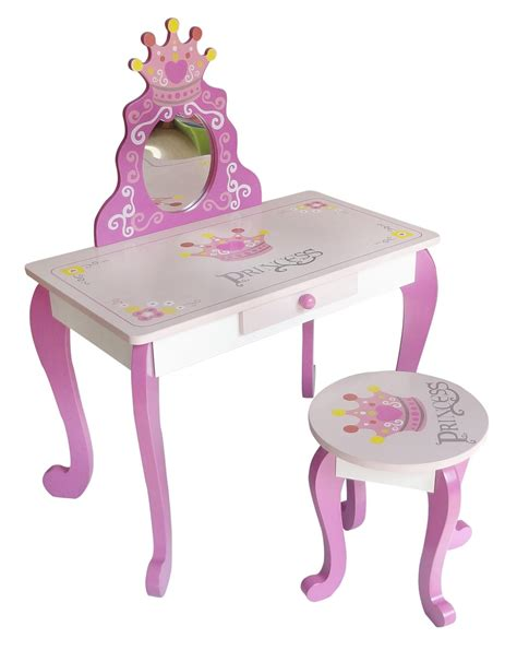 kiddi style wooden princess dressing table stool amazon co uk kitchen home