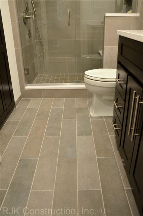 Floor Tile Ideas For Small Bathrooms Masculine Bathroom Renovation Contemporary Bathroom Dc Metro By Rjk Construction Inc