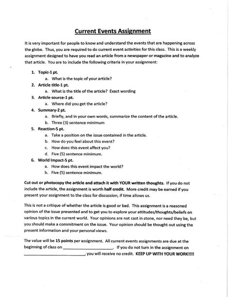 Current Events Essay by Current Event Essay