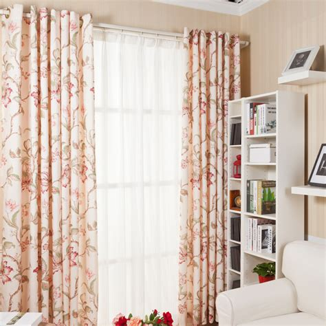 floral country curtains high quality poly cotton blend pastoral country style