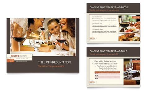 Bistro Bar Powerpoint Presentation Template Design Restaurant Ppt Template Free