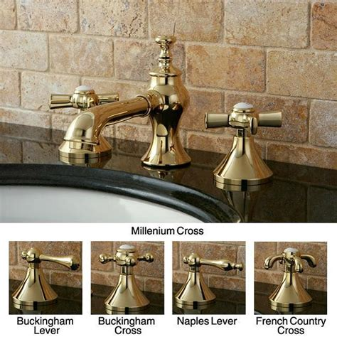country style bathroom faucets country widespread polished brass bathroom faucet