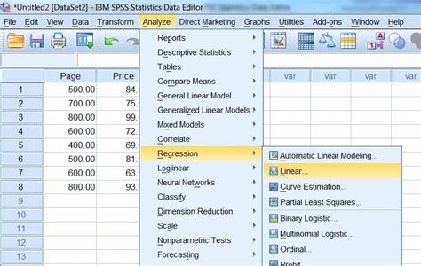 tutorial spss adalah belajar statistik dengan spss regresi linier sederhana