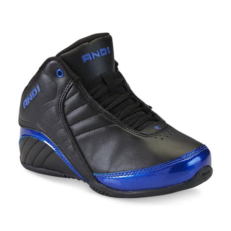 and boys shoes and 1 boy s rocket black blue high top basketball shoe