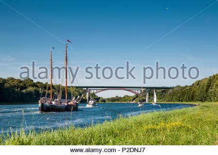sailing boat on canal sailing boats on the kiel canal baltic coast schleswig