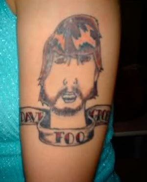 dave grohl tattoo deplorable dave grohl worst rock tattoos