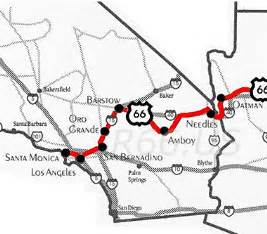 route 66 map california route 66 california