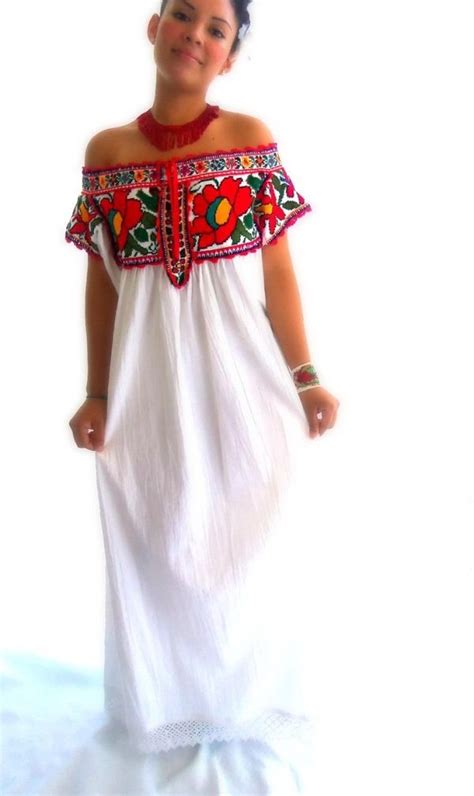 Handmade Mexican Embroidered Dresses - rosa juquila handmade embroidered wedding mexican
