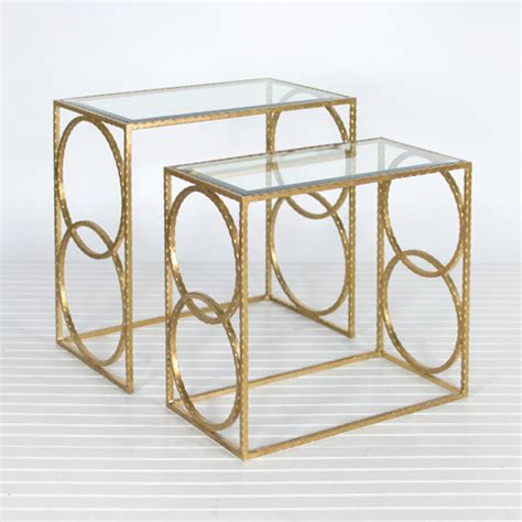 Gold Nesting Tables by Gold Leaf Nesting Tables Modern Side Tables And