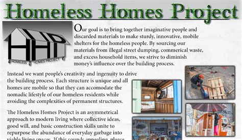 Homes by Homeless Homes Project