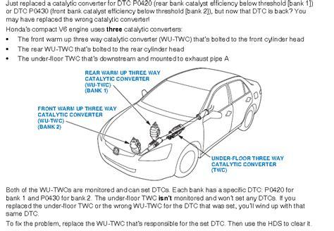 honda pilot engine light catalytic converter wiring harness 1997 acura tl 48
