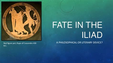themes of the story iliad fate in the iliad