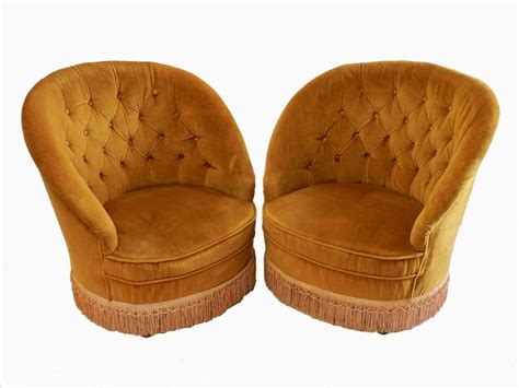 Vintage Bedroom Chairs Uk Pair Of Early Vintage Button Back Tub Chairs
