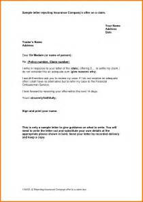 insurance letter template 8 claim letter sle itinerary template sle