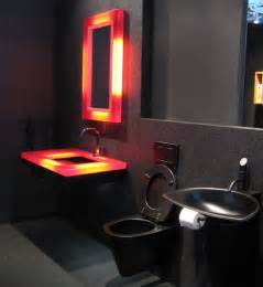 Red And Black Bathroom Ideas by 19 Almost Pure Black Bathroom Design Ideas Digsdigs