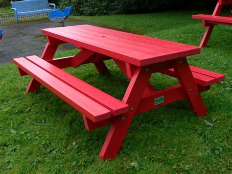 derwent recycled plastic junior picnic table bench education