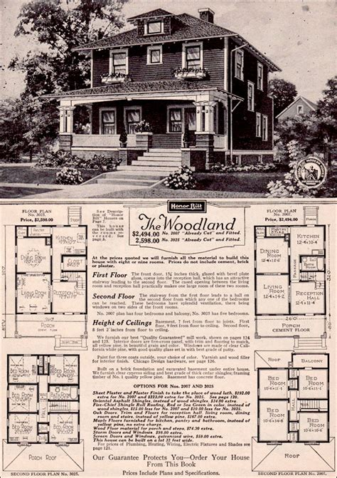 sears home model no 154 2 287 to 2 702 house plans