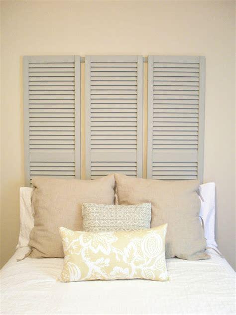 Shutter Headboard Ideas by Five Creative Headboard Ideas Bedroom Decorating Ideas