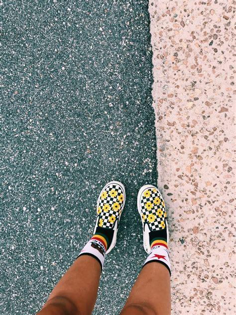 custom sunflower vans cute vans sock shoes shoes