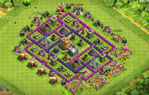clash of clans defense town hall level 7 clash of clans clash of clans best defense town hall level 7