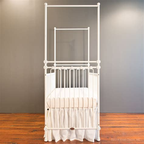 Distressed White Baby Crib Canopy Crib Distressed White