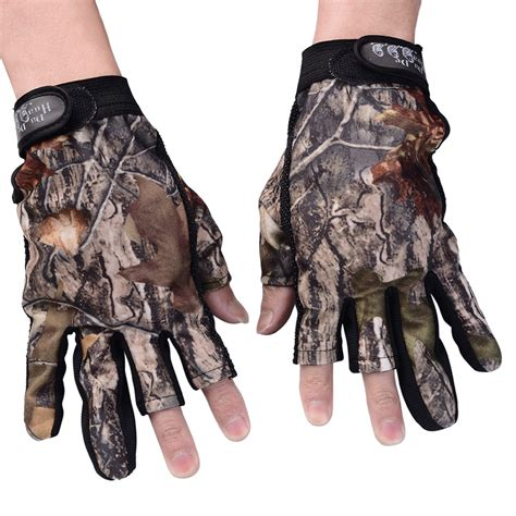 Gloves Original Warna Biru Abu 1 pair mens thermal fingerless gloves cotton shooting fishing combie ebay