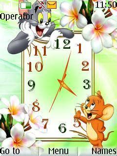cartoons themes for nokia free nokia c2 02 c2 03 c2 05 tom and jerry clock app