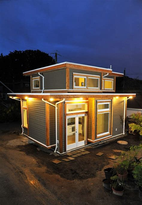 tiny house square living in 500 square foot small house by smallworks